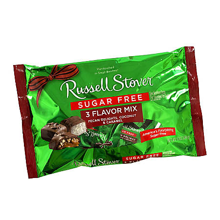 Russell Stover Sugar-Free Candy Mix, 3-Flavor, 10 Oz Bag, Pack Of 2 Bags