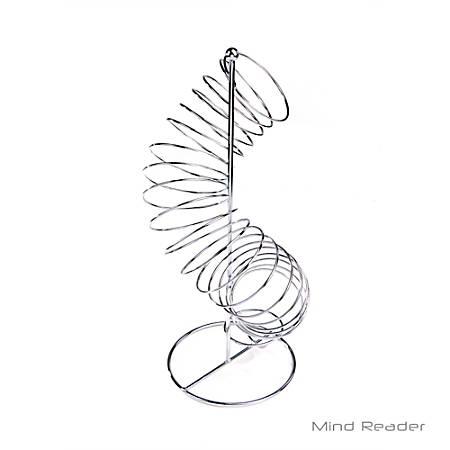"Mind Reader Twisted Fruit Holder Organizer, 18 1/2""H x 7 7/8""W x 7 7/8""D, Silver"
