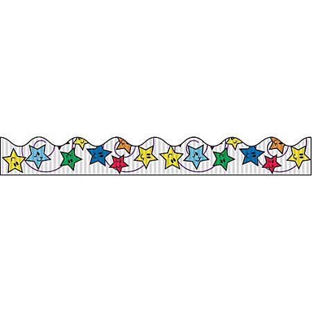 "Bordette Decorative Border - Stars Design - 2.25"" x 25' - 1 Roll/Pkg"