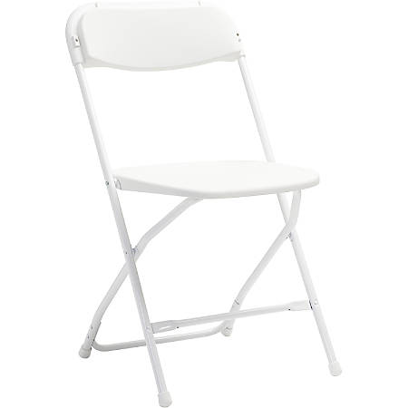 Samsonite® 2200 Series Injection-Molded Stackable Folding Chair, White, Set Of 10