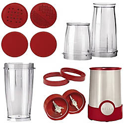 BELLA 12 Piece Rocket Blender Red