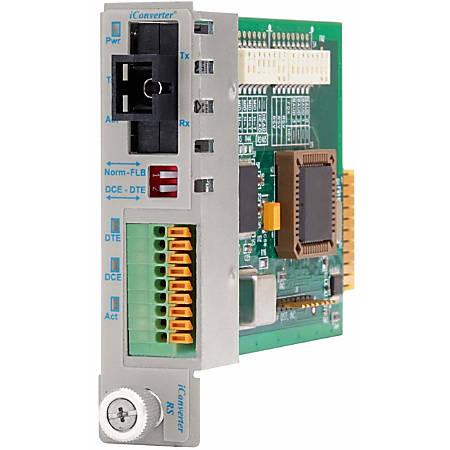 iConverter RS-232 Serial Single-Fiber Media Converter Terminal SC Single-Mode BiDi 20km Module - 1 x RS-232, 1 x SC Single-Mode Single-Fiber (1310/1550), Internal Module, Lifetime Warranty