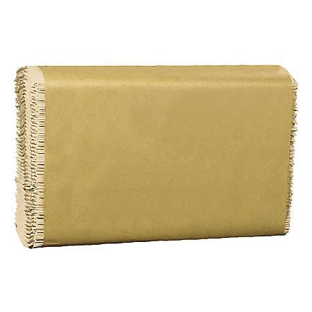 "Genuine Joe Single-Fold Towels, 10 1/2"" x 9 3/10"", Natural, Case Of 4,000 Sheets"