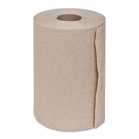 "Genuine Joe Hardwound Roll Paper Towels, 100% Recycled, 7 7/8"" x 350', 500 Sheets Per Roll, Carton Of 12 Rolls"
