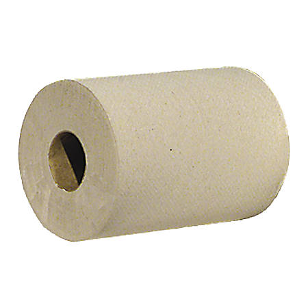 "Genuine Joe Hardwound Roll Paper Towels, 7 7/8"" x 800', Brown, Box Of 6 Rolls"