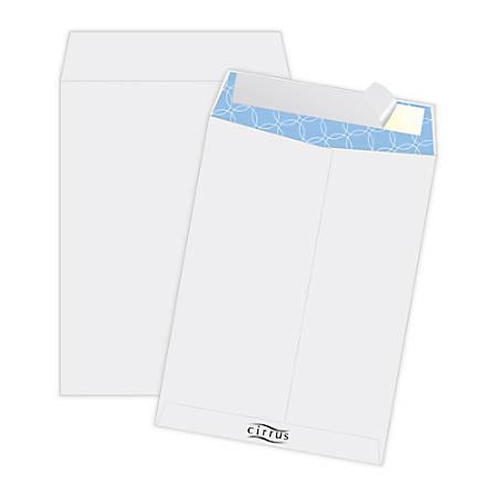 "Quality Park® Cirrus Dupont™ Tyvek® Antimicrobial Catalog Envelopes, 10"" x 13"", White, Box Of 100"