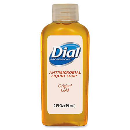 Dial Original Gold Antimicrobial Liquid Soap - 2 fl oz (59.1 mL) - Kill Germs - Hand - Orange - Antimicrobial - 48 / Carton