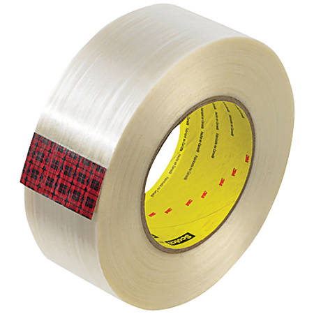 """Scotch® 890MSR Strapping Tape, 3"""" Core, 2"""" x 60 Yd., Clear, Case Of 24"""