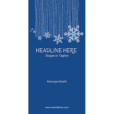 Custom Vertical Display Banner, Snowflakes