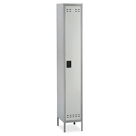 """Safco® Single-Tier Two-Tone Locker With Legs, 78""""H x 18""""W x 12""""D, Gray"""
