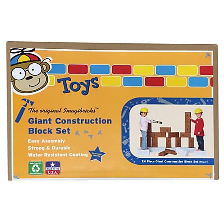Smart Monkey ImagiBRICKS™ Giant Construction Building Block Set, 50% Recycled, Grades Pre-K - 3