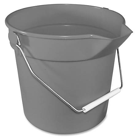 "Impact Products 10-qt Deluxe Bucket - 10 quart - 10.3"" x 10.6"" - Polypropylene - Gray"