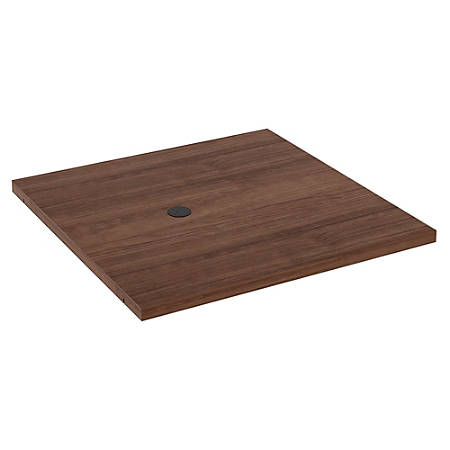 """Lorell® Prominence Conference Square Table Adder Section, 48""""W, Walnut"""