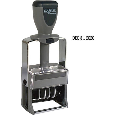 a2531b7951a1 Xstamper 10-Year Self-Inking Line Dater - Date Stamp - Black - Plastic,  Metal Frame - 1 Each Item # 240496