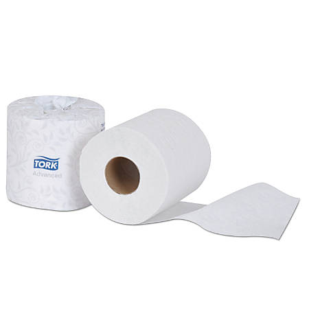 Tork® Advanced 2-Ply Bathroom Tissue, White, 550 Sheets Per Roll, Carton Of 80 Rolls