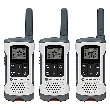 Motorola® TalkAbout® T260 Two-Way Radios, Red/White, Pack Of 3 Radios