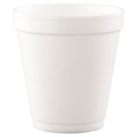 Dart® Squat Hot/Cold Foam Cups, 10 Oz, White, Case Of 1000