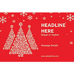 Custom Poster Red Christmas Horizontal
