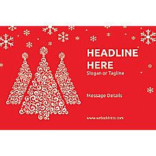 Custom Poster Red Christmas Horizontal