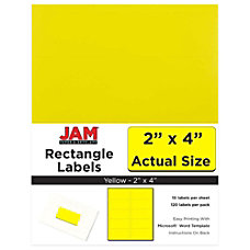 JAM Paper Rectangular Mailing Address Labels