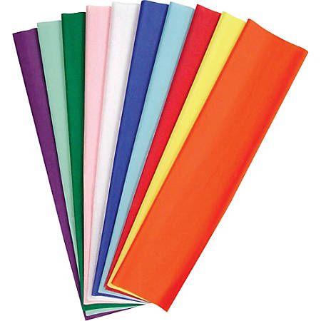 "Pacon KolorFast Tissue Paper Assortment, 20"" x 30"", Assorted Colors, Pack Of 100"
