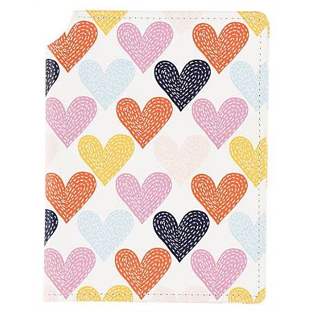 """Office Depot® Fashion Journal, 6"""" x 8"""", College Ruled, 128 Sheets, Hearts"""