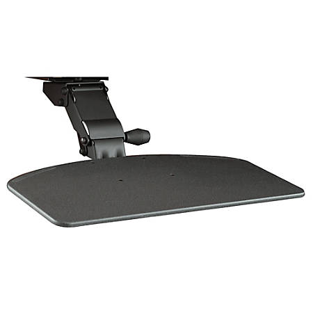 Bush Business Furniture Articulating Keyboard Tray, Galaxy, Premium Installation