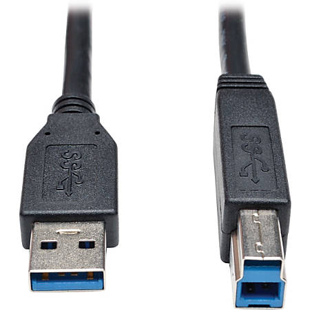 Tripp Lite 3ft USB 3.0 SuperSpeed Device Cable 5 Gbps A Male to B Male Black