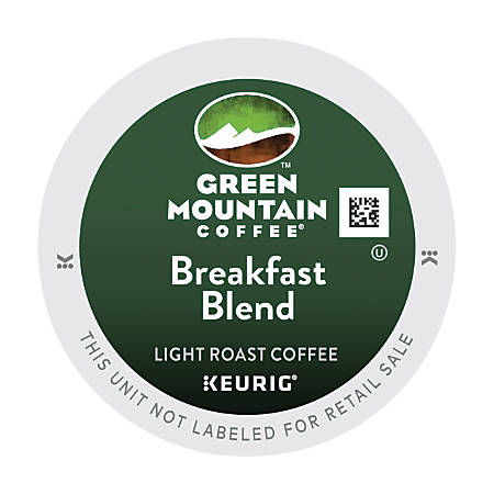 Green Mountain® Breakfast Blend Coffee K-Cup® Pods, 0.31 Oz, Box Of 48