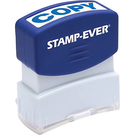 "Stamp-Ever Pre-inked Blue Copy Stamp - Message Stamp - ""COPY"" - 0.56"" Impression Width x 1.69"" Impression Length - 50000 Impression(s) - Blue - 1 Each"