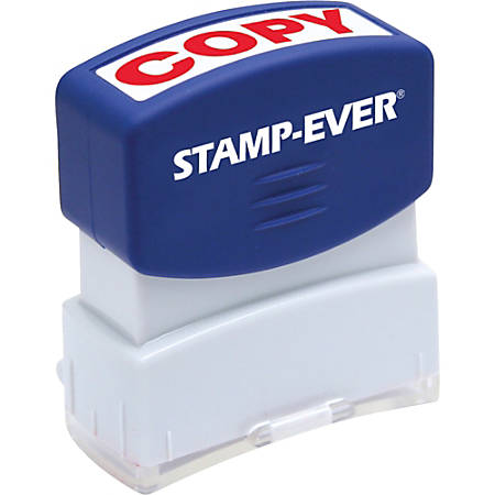 "Stamp-Ever Pre-inked Red Copy Stamp - Message Stamp - ""COPY"" - 0.56"" Impression Width x 1.69"" Impression Length - 50000 Impression(s) - Red - 1 Each"