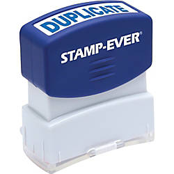 Stamp Ever Pre inked Duplicate Stamp