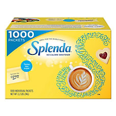 Splenda Sweetener Packets Box Of 1000