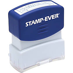 Stamp Ever Pre inked Blue E