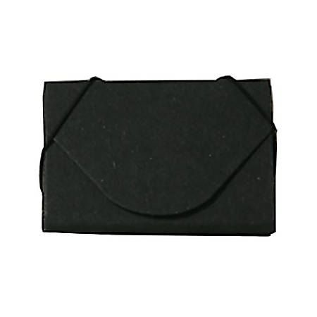 "JAM Paper® Business Card Case, 3 1/2"" x 2 1/4"" x 1/4"", 100% Recycled, Black Kraft"