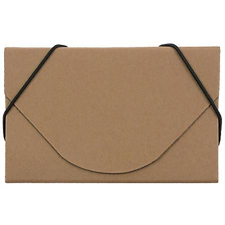 "JAM Paper® Business Card Case, 3 1/2"" x 2 1/4"" x 1/4"", Natural Kraft"