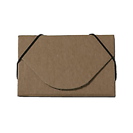 "JAM Paper® Business Card Case, 3 1/2"" x 2 1/4"" x 1/4"", 100% Recycled, Natural Kraft"