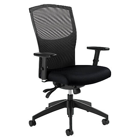"Global® Alero Medium-Back Multi-Tilter Adjustable Chair, 40 1/2""H x 25""W x 24 1/2""D, Ebony"