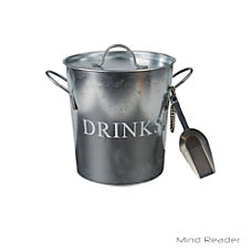 Mind Reader Metal Ice Bucket With