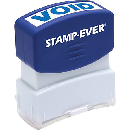 """Stamp-Ever Pre-inked One-Clear Void Stamp - Message Stamp - """"VOID"""" - 0.56"""" Impression Width x 1.69"""" Impression Length - 50000 Impression(s) - Blue - 1 Each"""