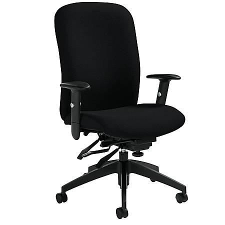 "Global® Truform High-Back Multi-Tilter Adjustable Chair, 42""H x 26""W x 25""D, Black"