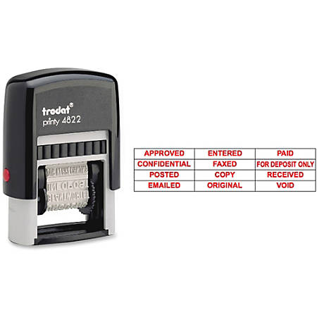 U.S. Stamp & Sign 12-In-1 Message Stamp, Red