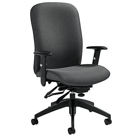 "Global® Truform High-Back Multi-Tilter Adjustable Chair, 42""H x 26""W x 25""D, Graphite"