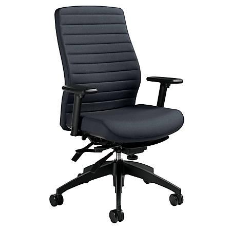 Global® Aspen Fabric High-Back Chair, Charcoal/Black