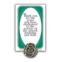 20 Years Of Service Lapel Pin