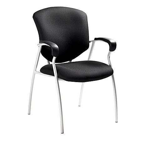 "Global® Supra Armchair, 38""H x 25""W x 25 1/2""D, Black"
