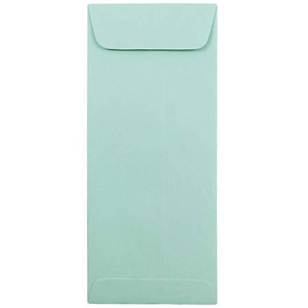 "JAM Paper® Policy Envelopes, #10, 4 1/8"" x 9 1/2"", Aqua, Pack Of 25"