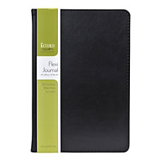 Eccolo Faux Leather Journal Black