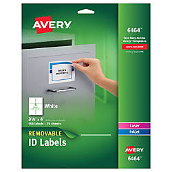 Avery InkjetLaser Labels 6464 ID 3