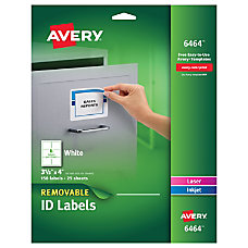 Avery Removable InkjetLaser ID Labels 3